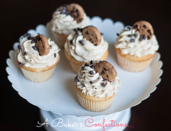 Chocolate Chip Cookie Dough Cupcake 2