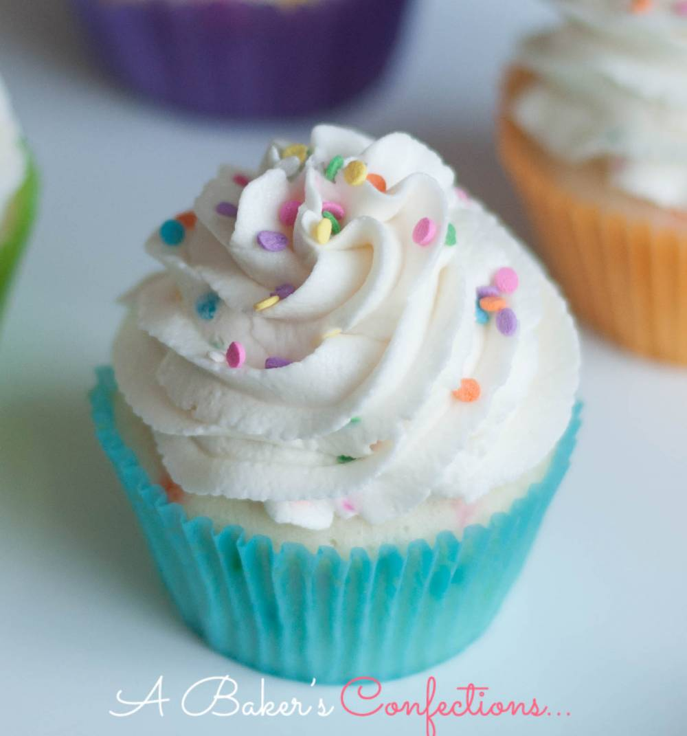 Funfetti Cake and Funfetti Frosting with Sprinkles