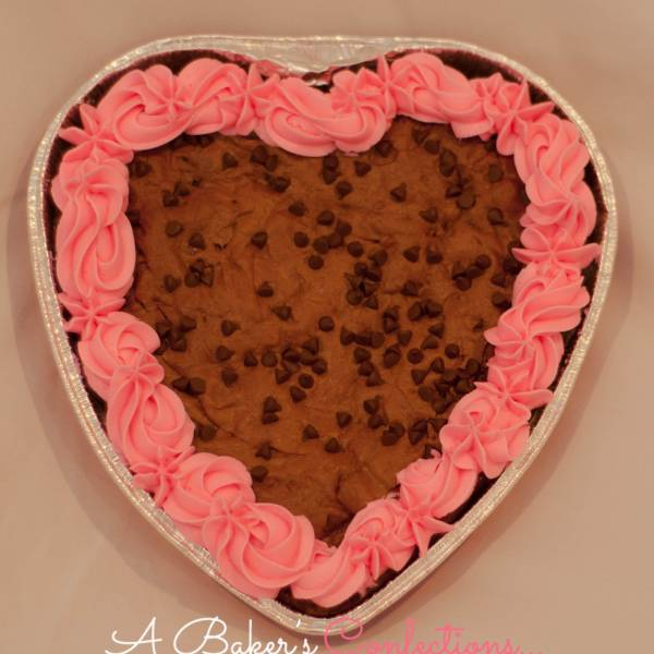 Valentine Heart Shaped Brownie Cake